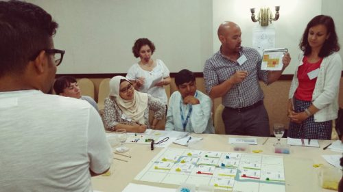 Many NGOs participated in the Jakarta test of the Flood Resilience Game.