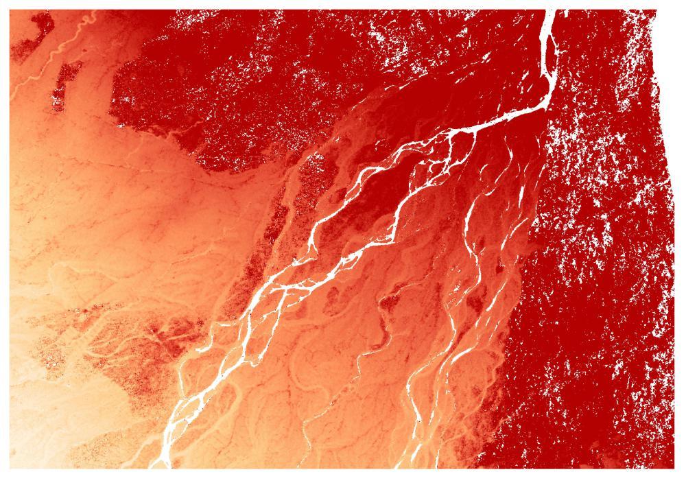 TanDEM-X 10m resolution Digital Elevation Model of the Karnali River
