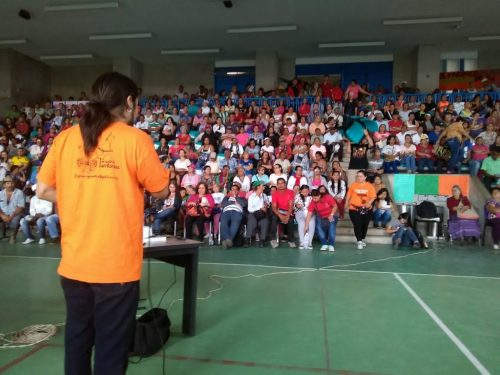 A meeting where community residents met with the most local level of the public administration and the city-level authorities to discuss landslide risk reduction.