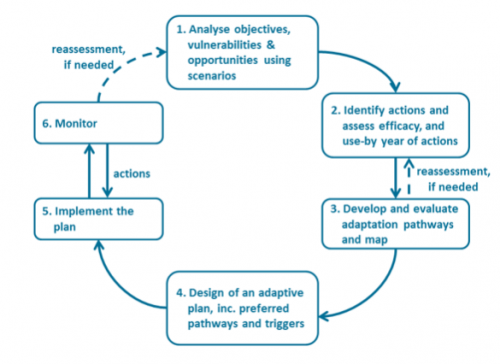 Figure 1: The Dynamic Adaptive Policy Pathways (DAPP) approach