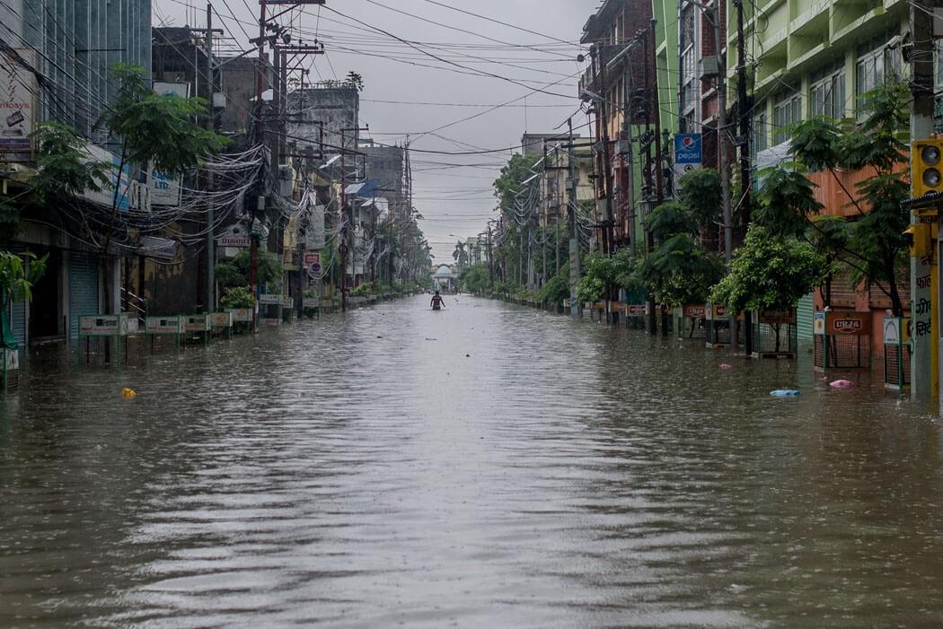 Birganj in Province 2 engulfed by flood on Saturday, July 13 (Source: Nepalitimes)