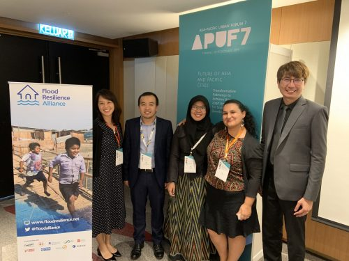 Colleagues from Mercy Corps at the Asia Pacific Urban Forum in 2019