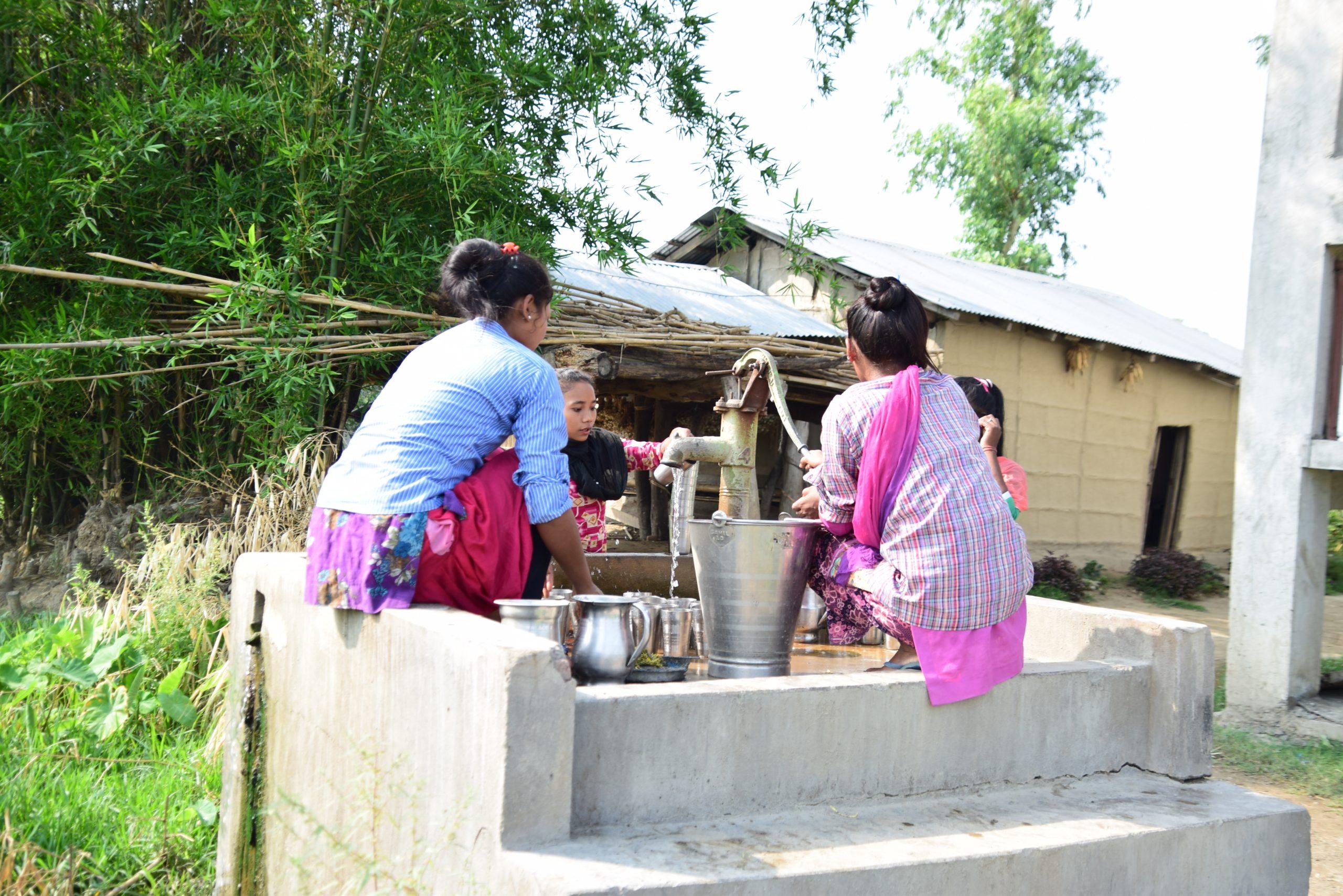 Flood Resilient Infrastructure - Raised Tube well Bangaun Community Tikapur Kailali