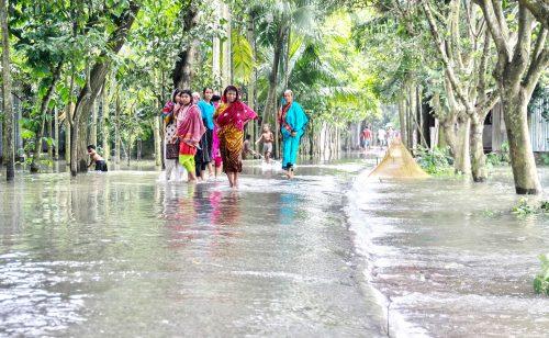 Impact of flood on community in Sirajganj, Bangladesh