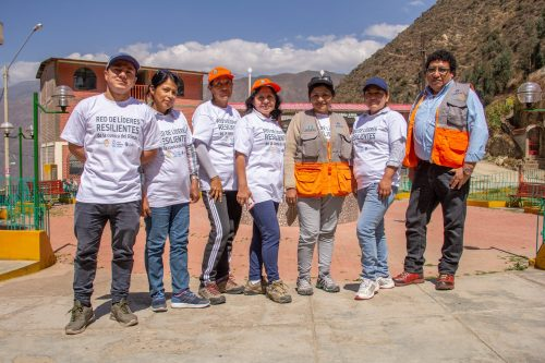 Resilient Leaders Network in Rimac watershed, Peru. A local volunteer group developed in response to FRMC results. Photo by Practical Action Peru.
