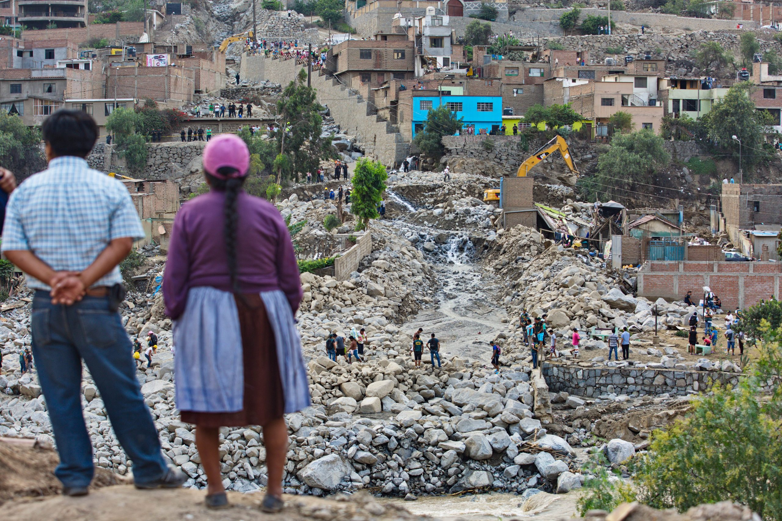The aftermath of a flash flood in a community outside Lima, Peru. By Fidel Carillo