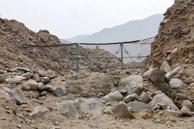 Geodynamic mesh fence in Chosica, Lima.
