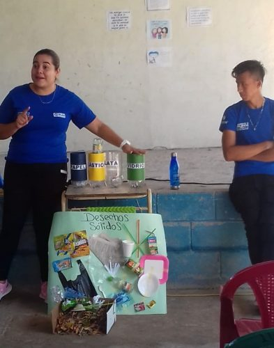 Cristina at a workshop on solid waste management in her community. Photo: Plan International, March 2020.