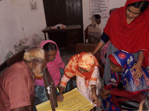 Community members participating in FRMC feedback workshop