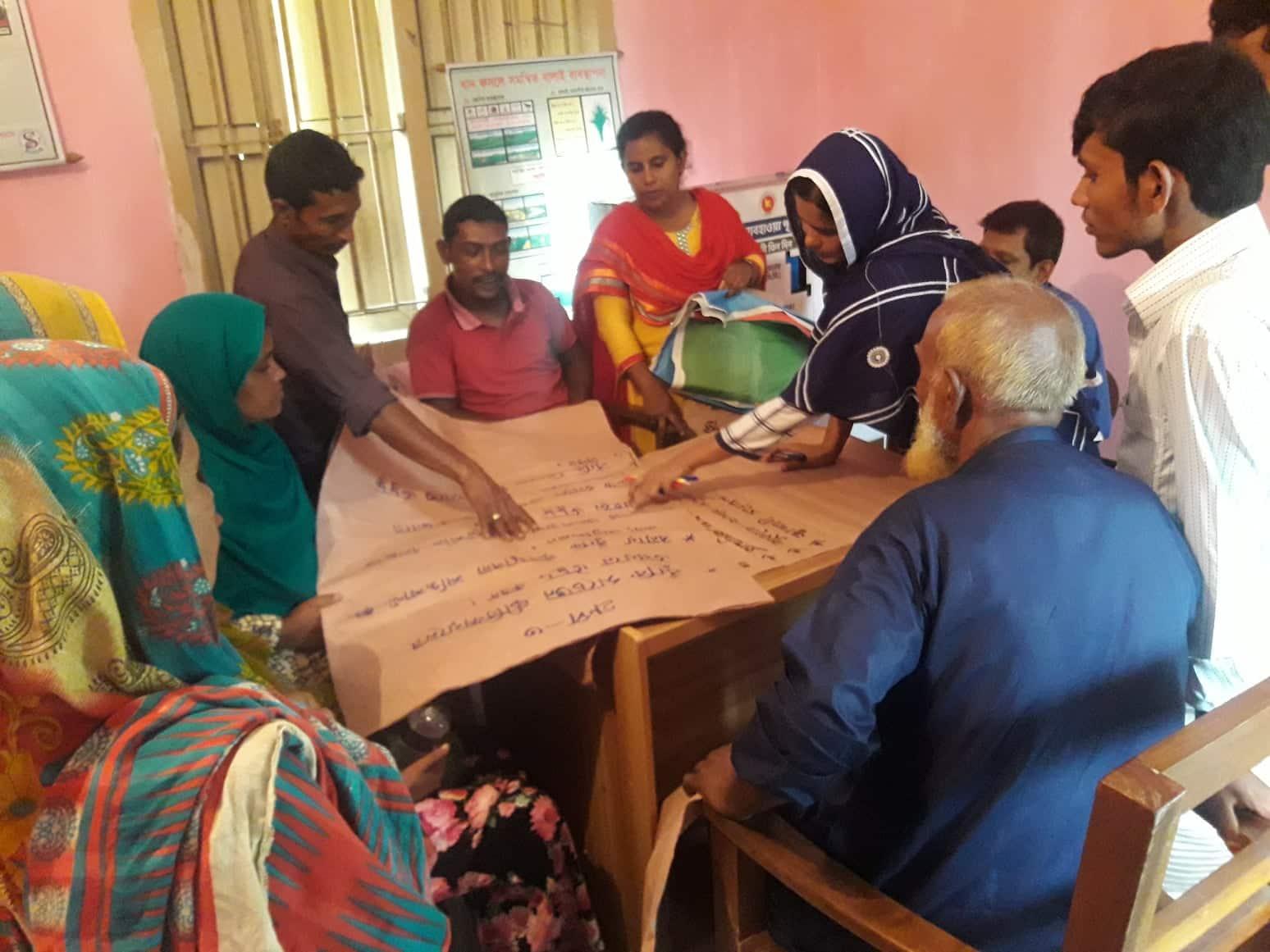 Cluster feedback workshop, Belka Nobabganj, Sundarganj