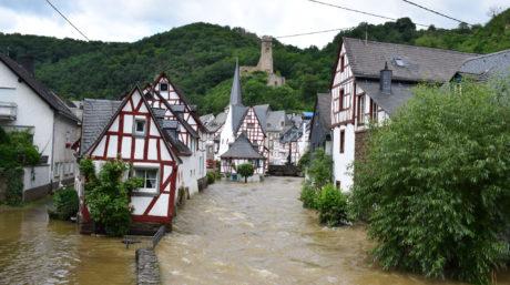 Elz River flooding Monreal, Germany. M. Volk/Shutterstock.com